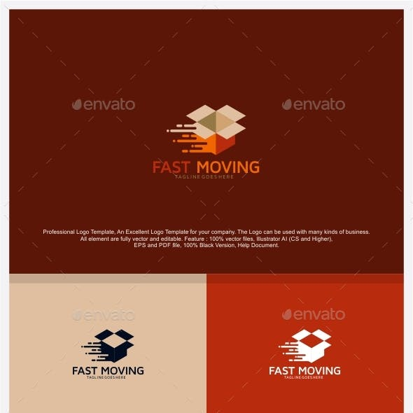 Fast House Moving Logo