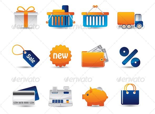 Shopping icons set - Web Icons