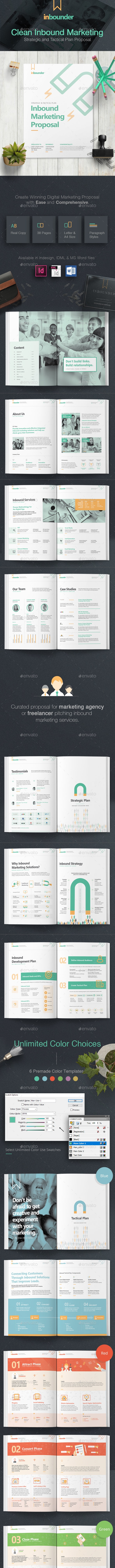 Inbound Marketing Proposal - Proposals & Invoices Stationery