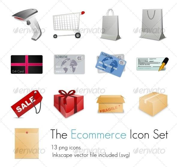 13 E-commerce icons - Web Icons