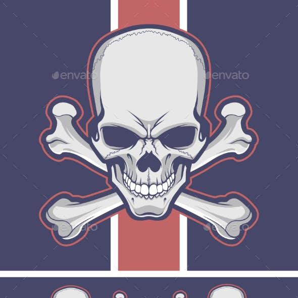 Crossbones with Optional Skull and Femurs
