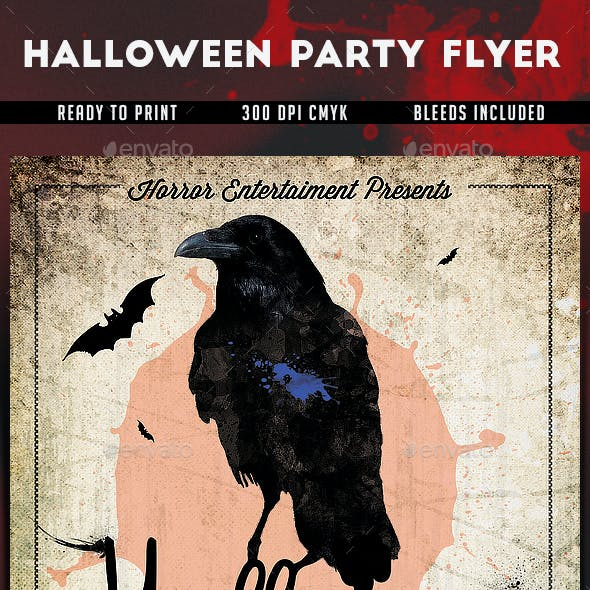 Halloween Party Flyer v2 by k-project | GraphicRiver