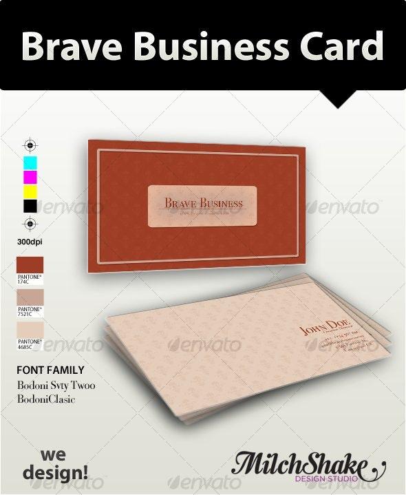 Brave Business Card - Retro/Vintage Business Cards