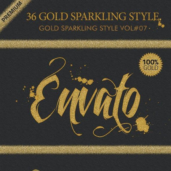 36 Gold Sparkling Styles Vol.7