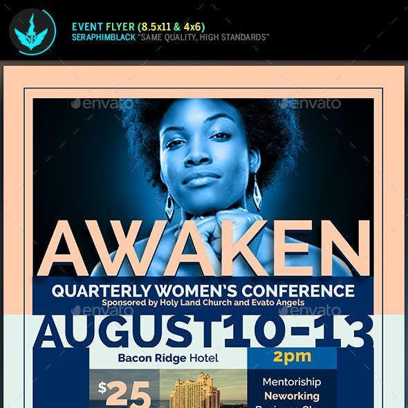Awaken Women's Conference  Flyer Template