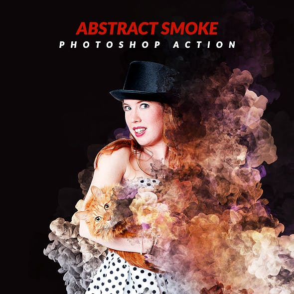 Abstract Smoke Photoshop Action