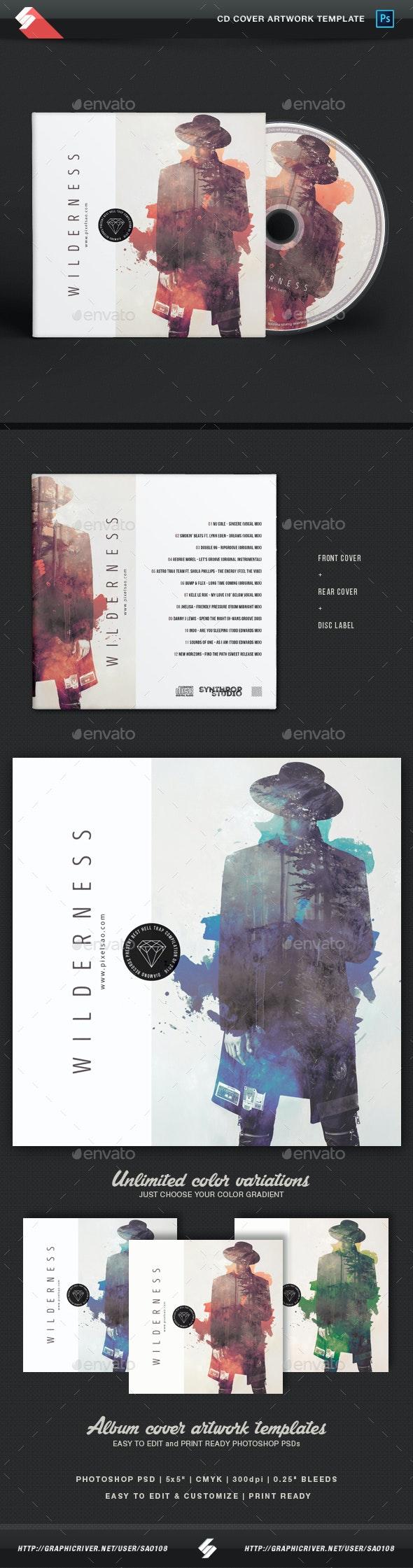 Wilderness - Creative CD Album Cover Template - CD & DVD Artwork Print Templates