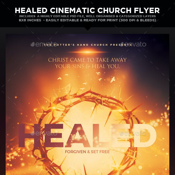 Healed Church Theme Cinematic Flyer
