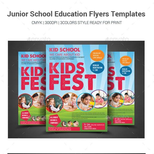 Junior School Education Flyers Templates