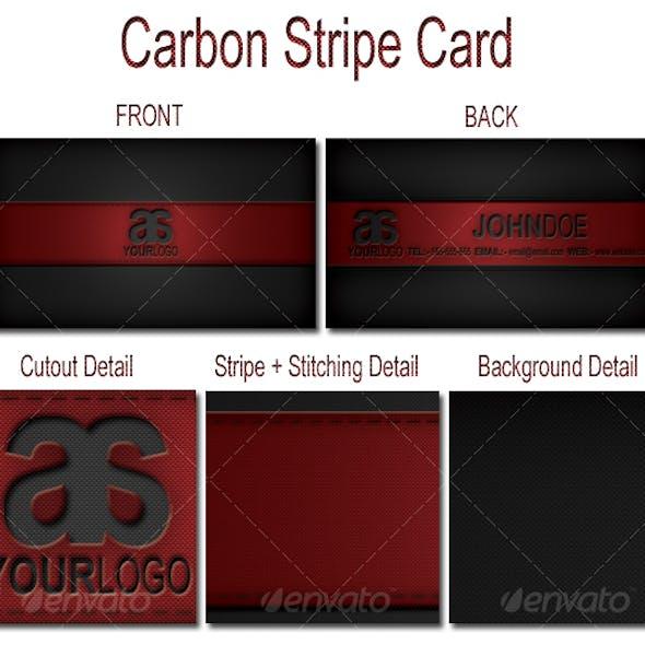 Carbon Stripe Card