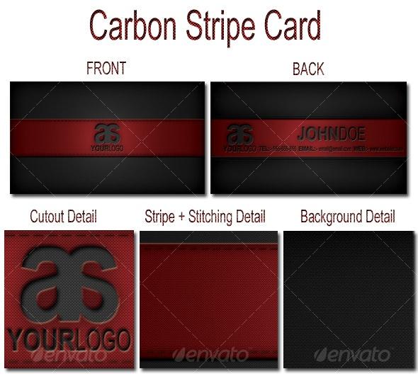 Carbon Stripe Card - Corporate Business Cards