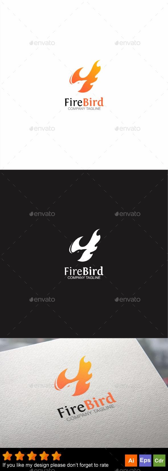 Fire Bird - Animals Logo Templates