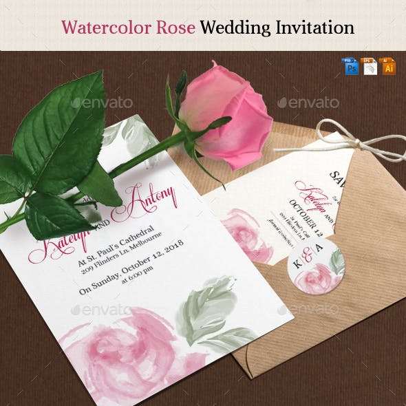 Rose Wedding Invitation