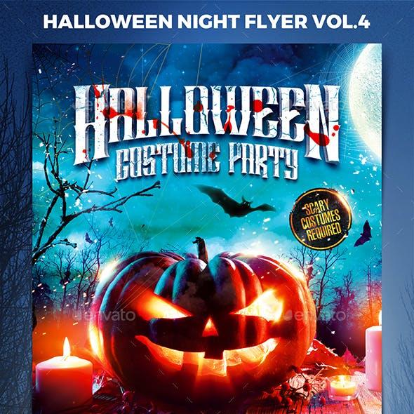 Halloween Night Party Flyer vol.4