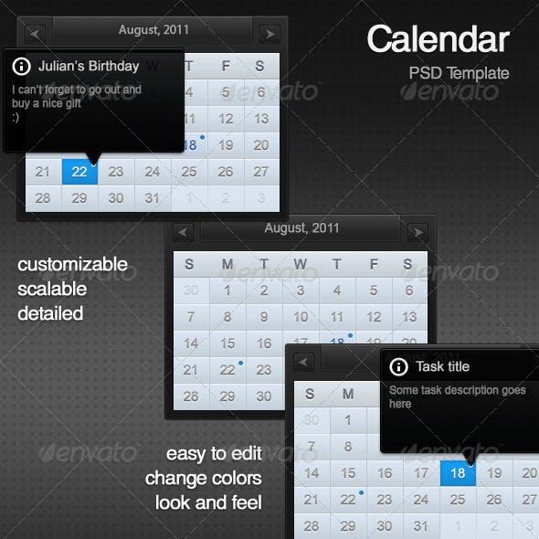 Calendar PSD Template