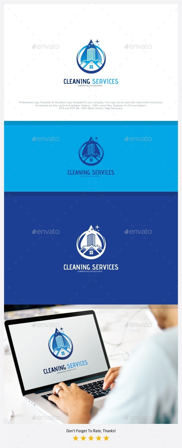 Cleaning Services Logo - Buildings Logo Templates