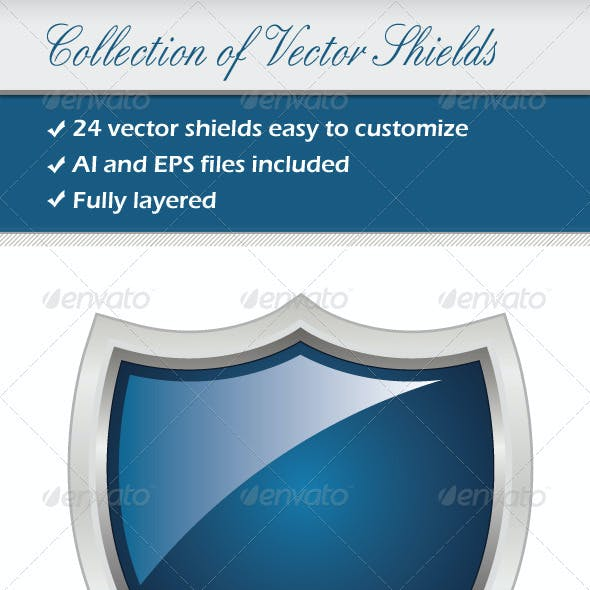 Collection Of Vector Shields