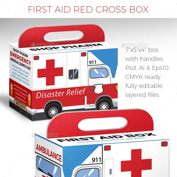 Medical First Aid Emergency Box with Handle