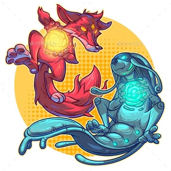 Vector Illustration Cartoon Monsters