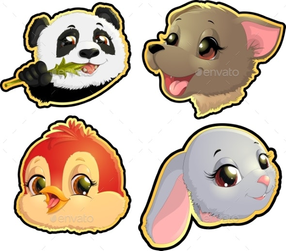 Cute Animals Faces - Animals Characters