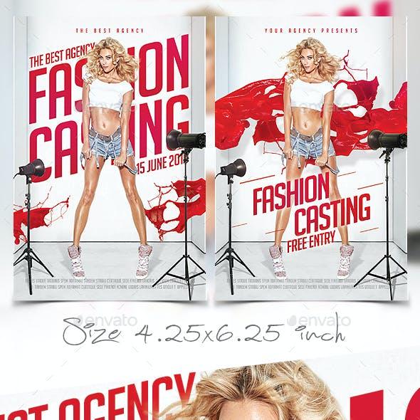 Fashion Casting Flyer