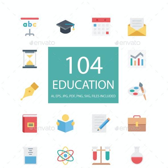 100+ Education Flat Icons