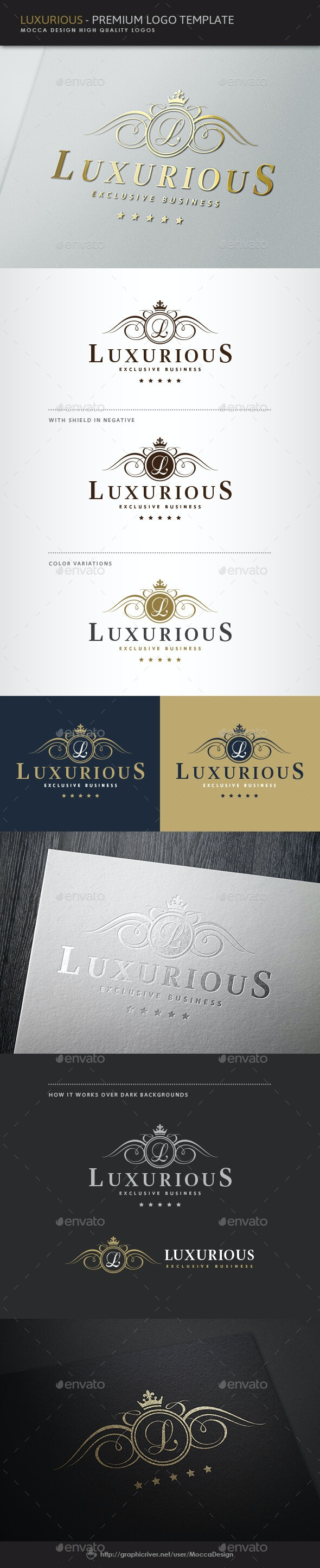 Luxurious Logo - Crests Logo Templates
