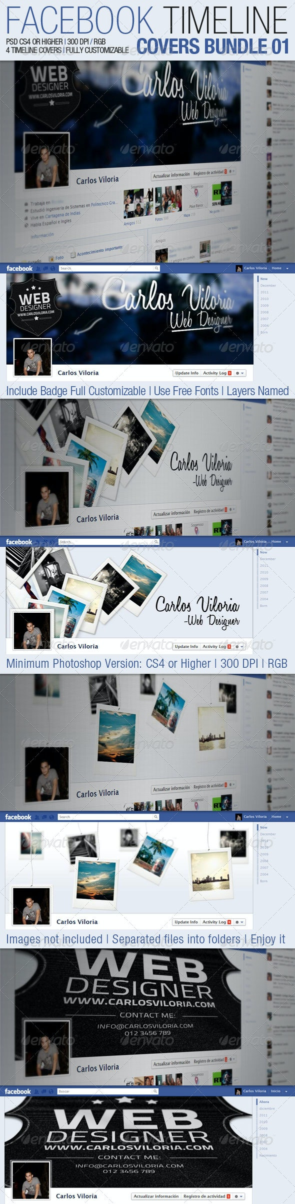 Facebook Timeline Covers Bundle 01 - Facebook Timeline Covers Social Media