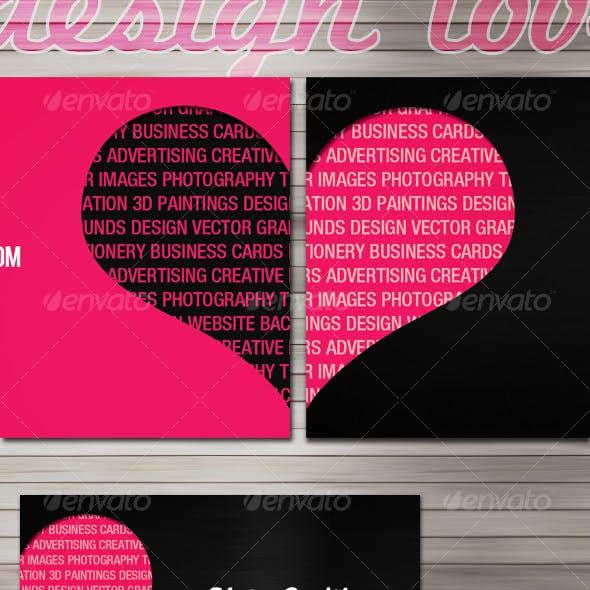 Design love business cards - 2 sides