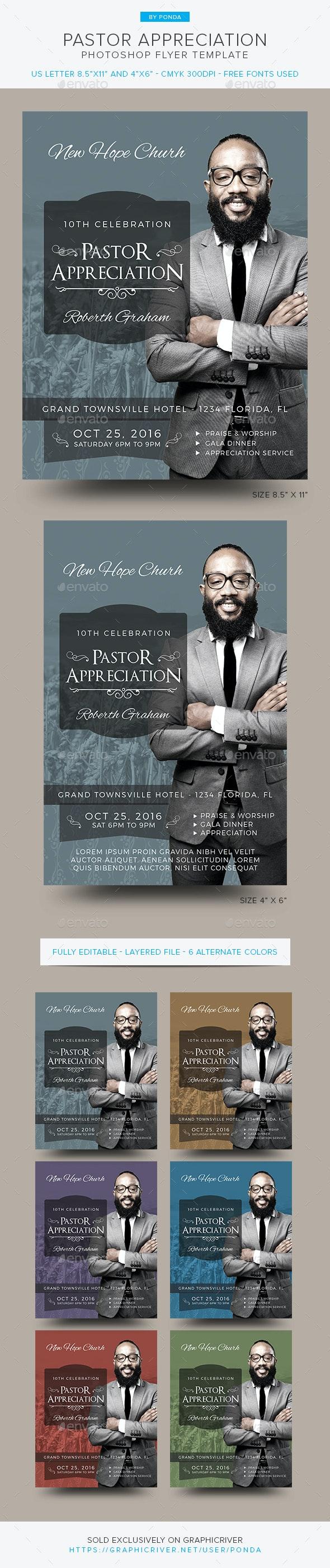 Pastor Appreciation Flyer Invitation - Church Flyers