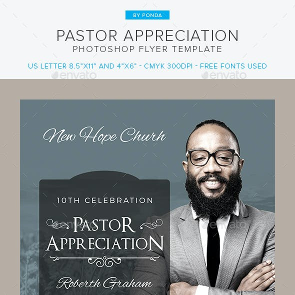 Pastor Appreciation Flyer Invitation