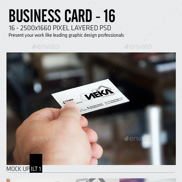 Business Card Mockup Office
