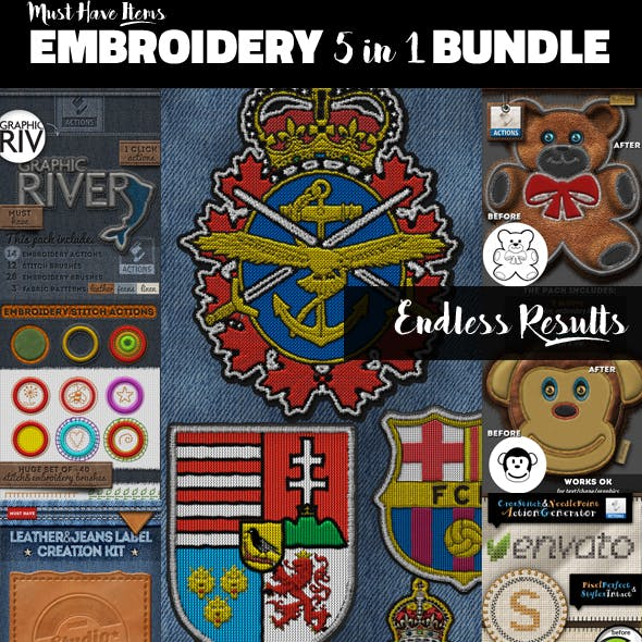 Embroidery and Stitching Bundle