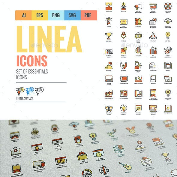 Big Line Color Icons Collection