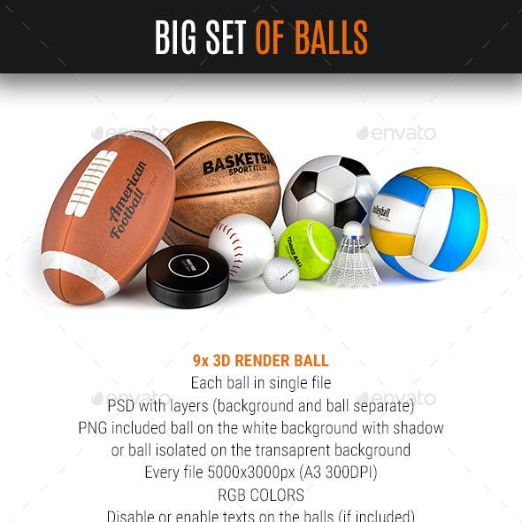 Big Balls Set 9x Sport Ball