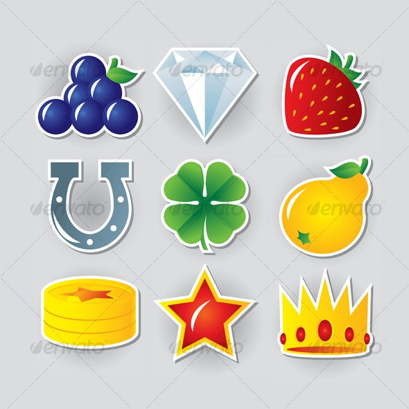 Slot symbols set 2 - Web Icons