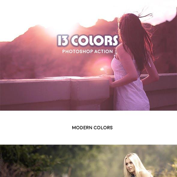 13 Colors - Photoshop Action #21