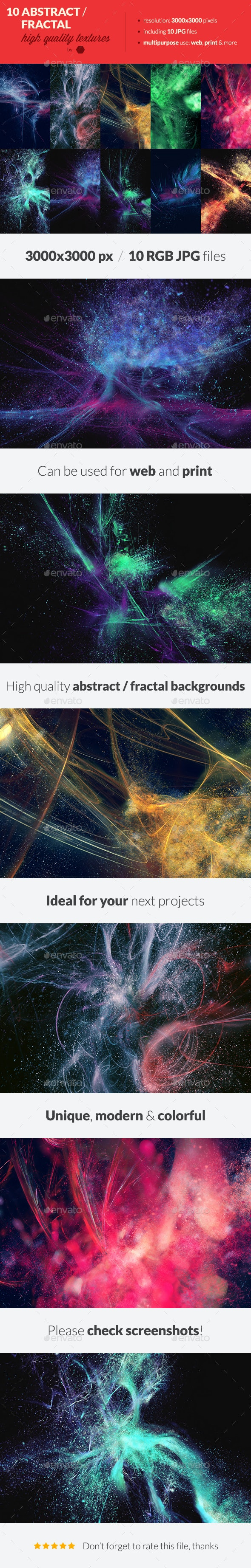 10 Abstract Fractal Backgrounds Textures - Backgrounds Graphics