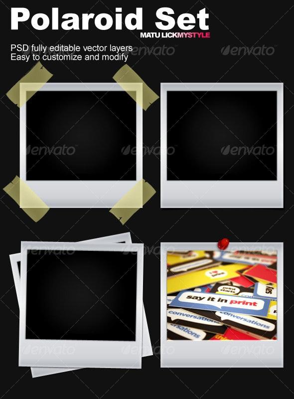 Polaroid Set - Backgrounds Graphics