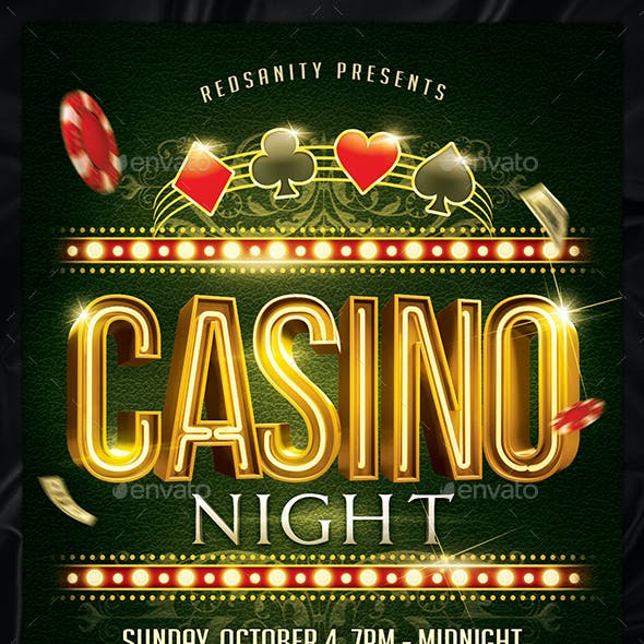 Casino Night Flyer Plus FB Cover