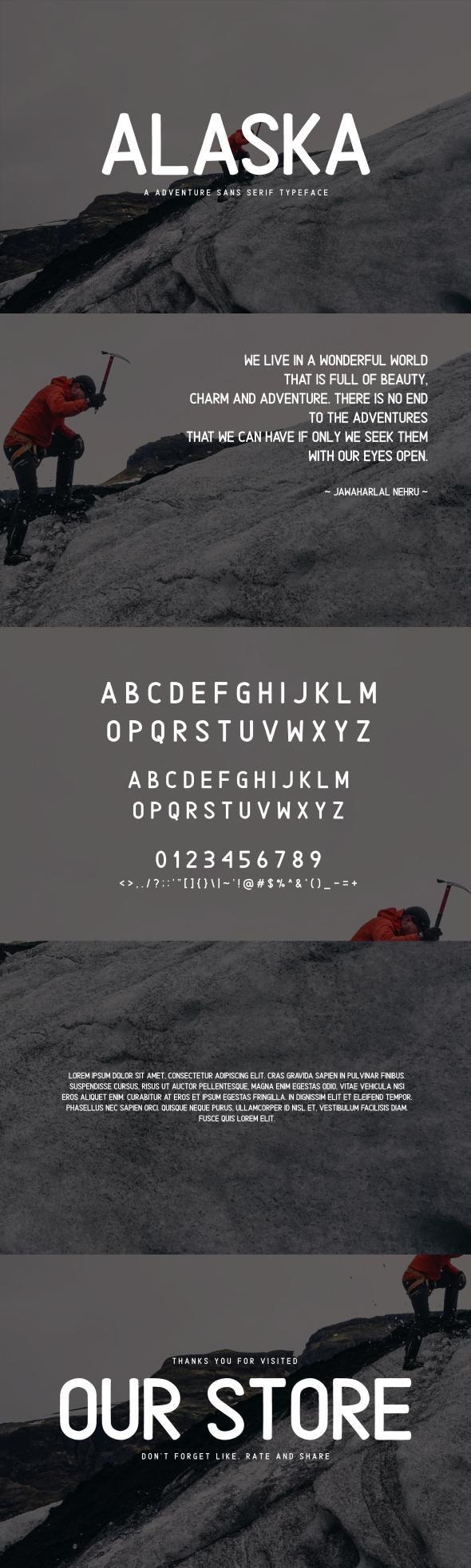 Alaska | Adventure Sans Serif Type - Sans-Serif Fonts