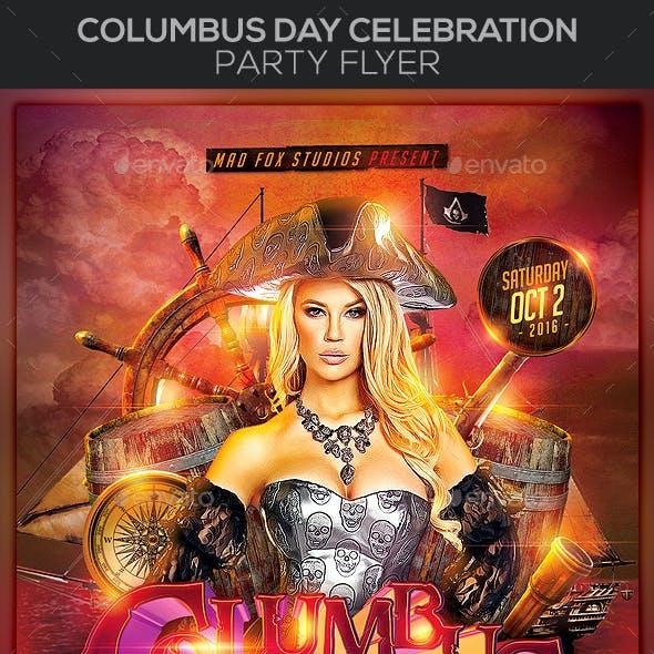 Columbus Day Celebration Party Flyer