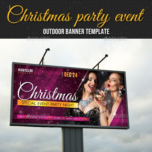 Christmas Party Outdoor Banner 01