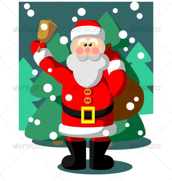 Santa Claus in color 05 - Christmas Seasons/Holidays