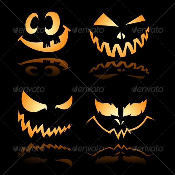 Spooky Halloween Grin 1 - Halloween Seasons/Holidays