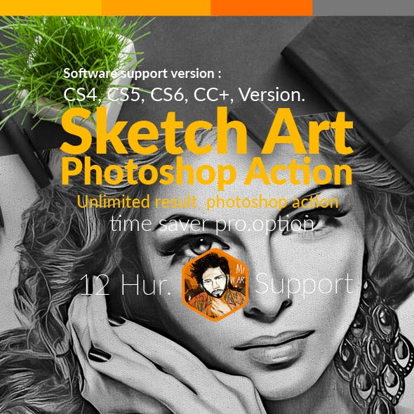 Sketch Art Photo Action