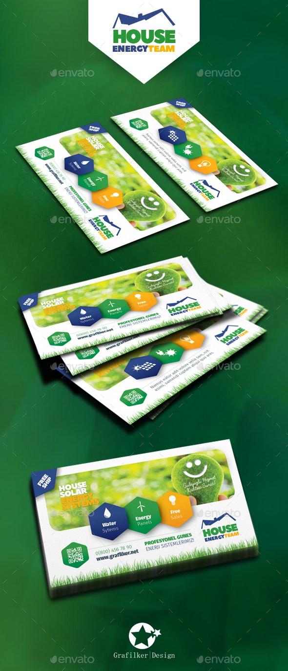 Solar Energy Business Card Templates by grafilker | GraphicRiver