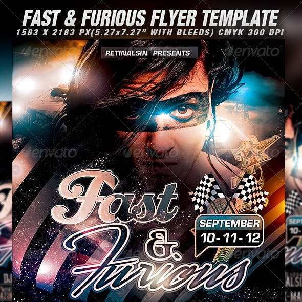 Fast & Furious Flyer Template