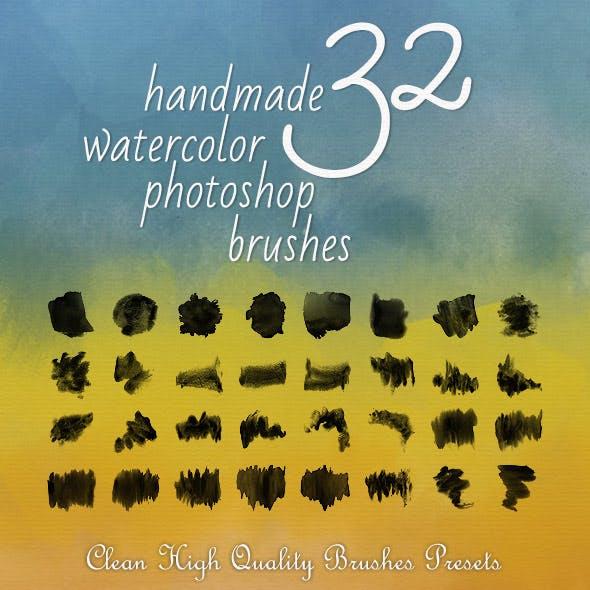 32 Watercolor Artistic Brushes