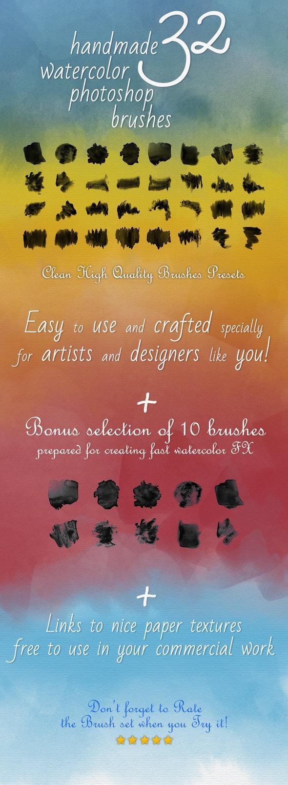32 Watercolor Artistic Brushes - Artistic Brushes